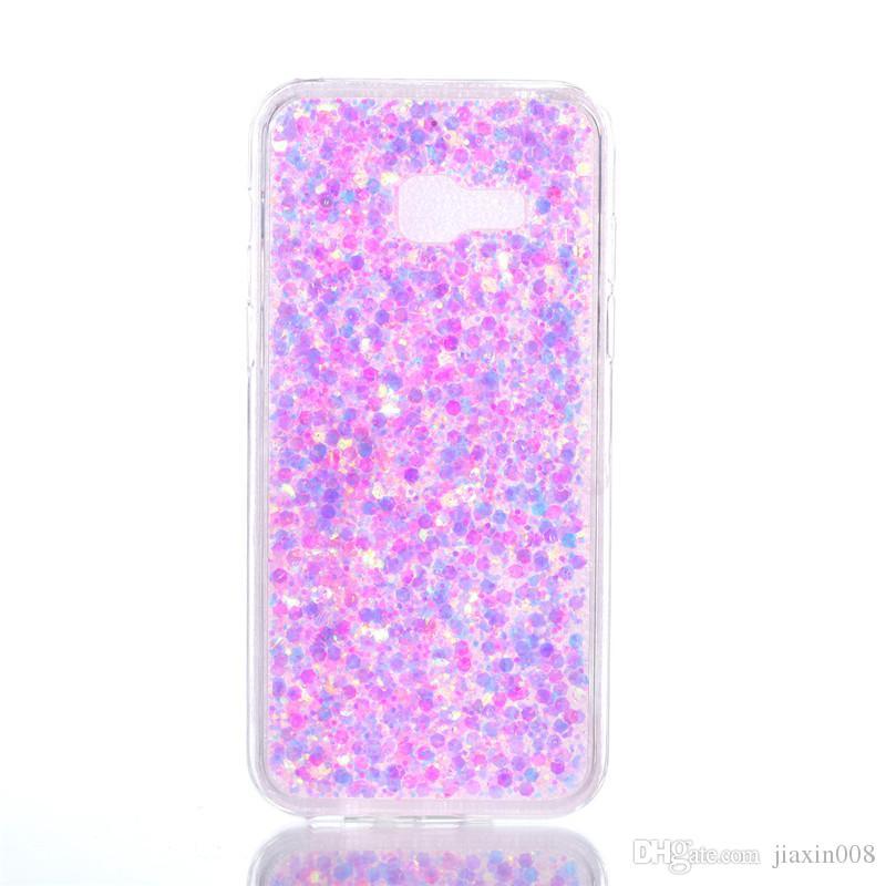 Fashion Flash slice Phone Case For Samsung Galaxy A720 A7 2017 Cover Acrylic Soft TPU silicon Mobile Phone Case For Samsung A7 2017