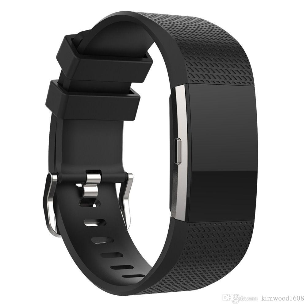 fascia di ricambio in silicone Fitbit Charge 2 Cinturini di ricambio in silicone sportivo colorato Fitbit Charge 2 con pacchetto OPP