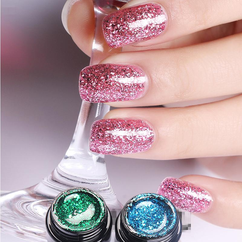 Super Color Gel Paint Lacquer 10ml Nail Art Glitter Pearl Diamonds Soak Off Platinum Uv Led Polish Brands Removal From