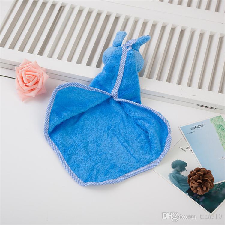 منشفة جديدة المرجان المخملية أرنب النمذجة منشفة المطبخ مناديل الكرتون منشفة نظيفة امسح IC850 القماش
