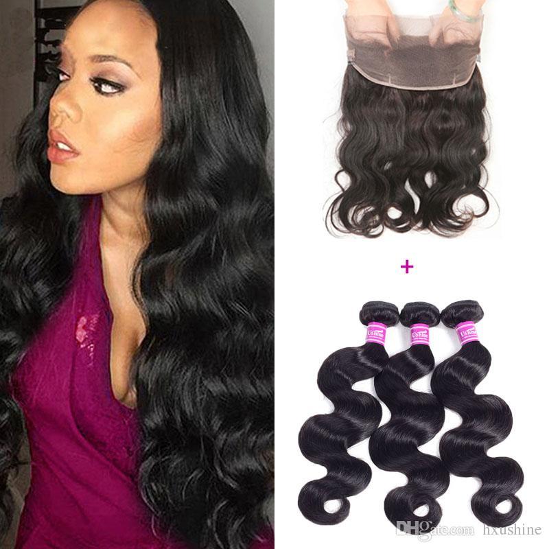 Cheap Factory Wholesale Virgin Human Hair Weave Bundles With 360