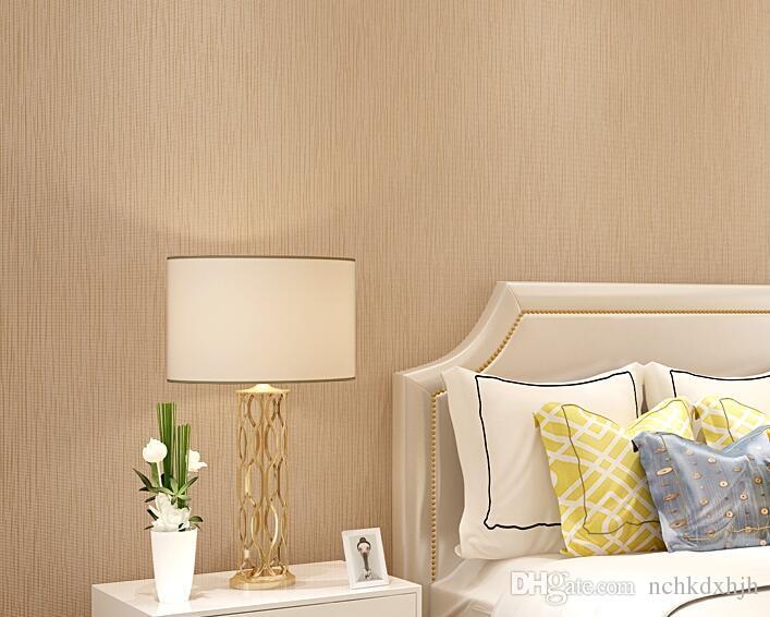 Yasha wallpaper non-woven wallpaper modern minimalist linen wallpaper bedroom TV background wall stereo Shutiao yellow 203-2