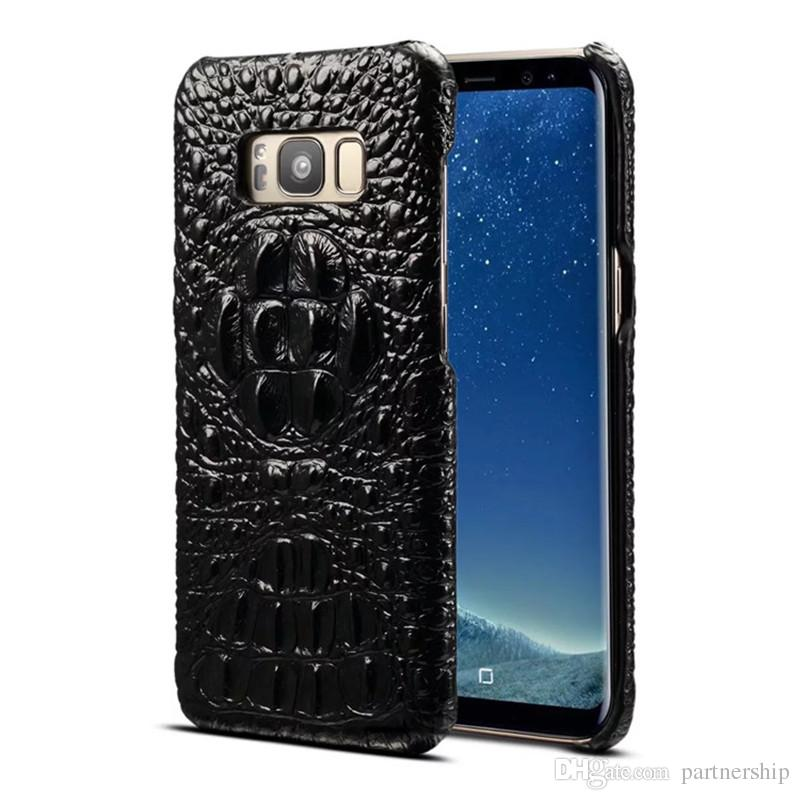 pretty nice 8a409 68eaa Luxury S8 Plus Thin Hard PC Case For Samsung Galaxy S8 / S8 Plus Back Cover  3D Crocodile Protective Shell Skin Phone Cases