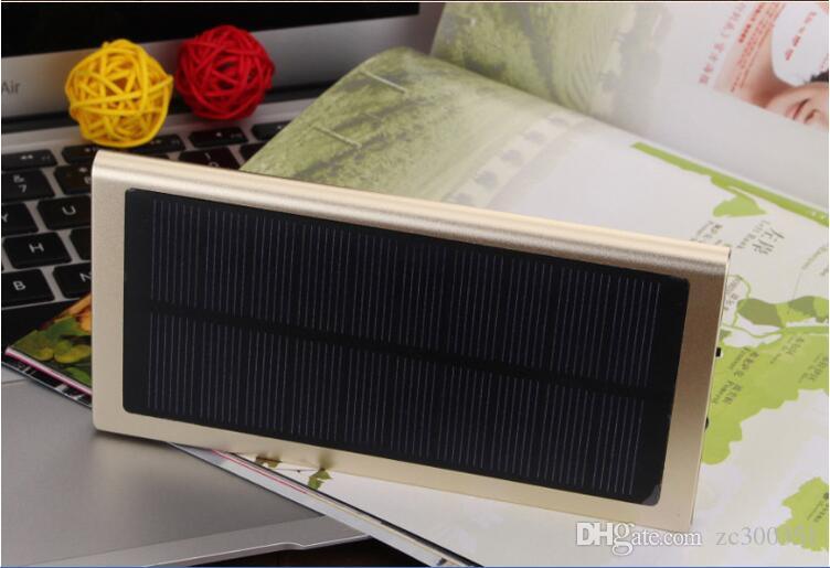 스마트 폰을위한 새로운 8000mAh 휴대용 태양 광 발전 은행 초박형되는 PowerBank 백업 전원 공급 장치 배터리 전원 충전기