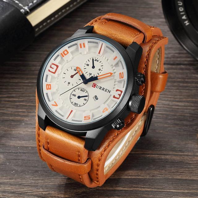78beb3864e0 Compre CURRENT Top Marca De Luxo Mens Watch Men Relógios Masculino Casual  Relógio De Pulso De Quartzo De Couro Militar À Prova D  Água Relógios  Relógio Do ...