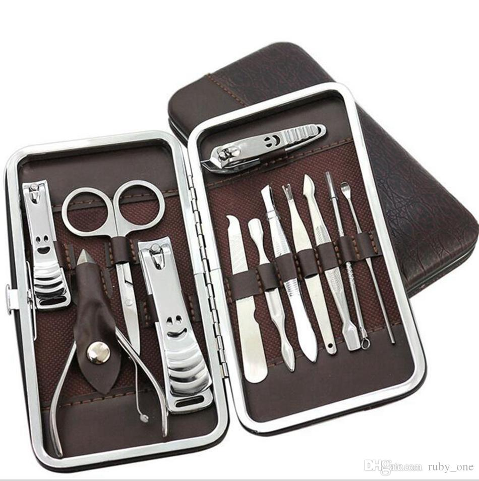 Manicure Set Pedicure Scissor Tweezer Knife Ear Pick Utility Nail ...