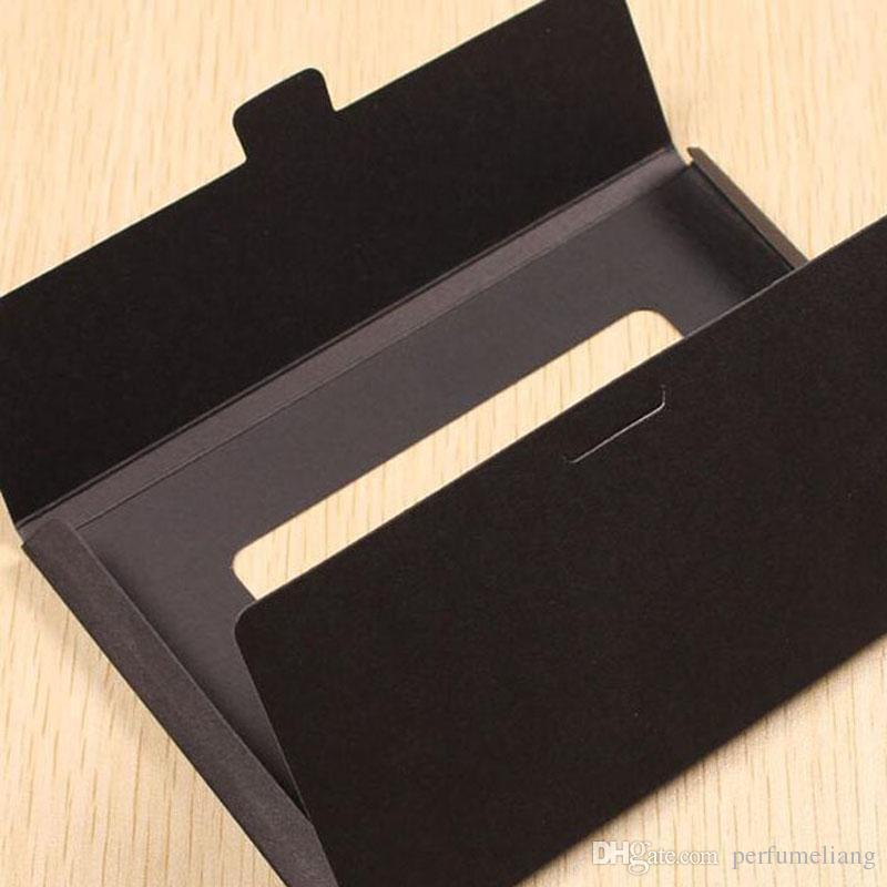 10.2*15.5*0.5cm Kraft Paper Foldable Photo Display Box Postcard Box With Window Greeting Card Party Packaging ZA4010