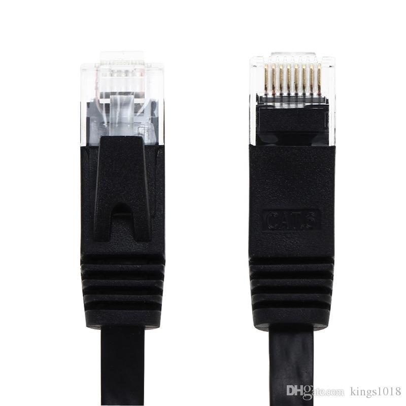 High Quality 1M/3M/5M/10M Aurum Cables Flat CAT6 Flat UTP Ethernet Internet Network Cable RJ45 Patch LAN Cable Connector