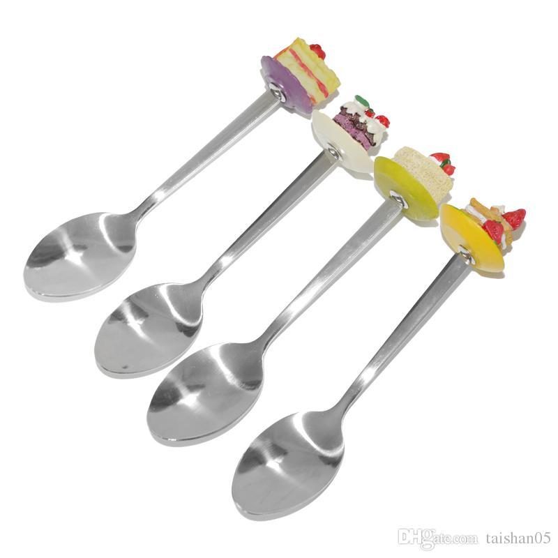 2018 Funny Stocked Stainless Steel Dinner Spoon For Children Dessert ...