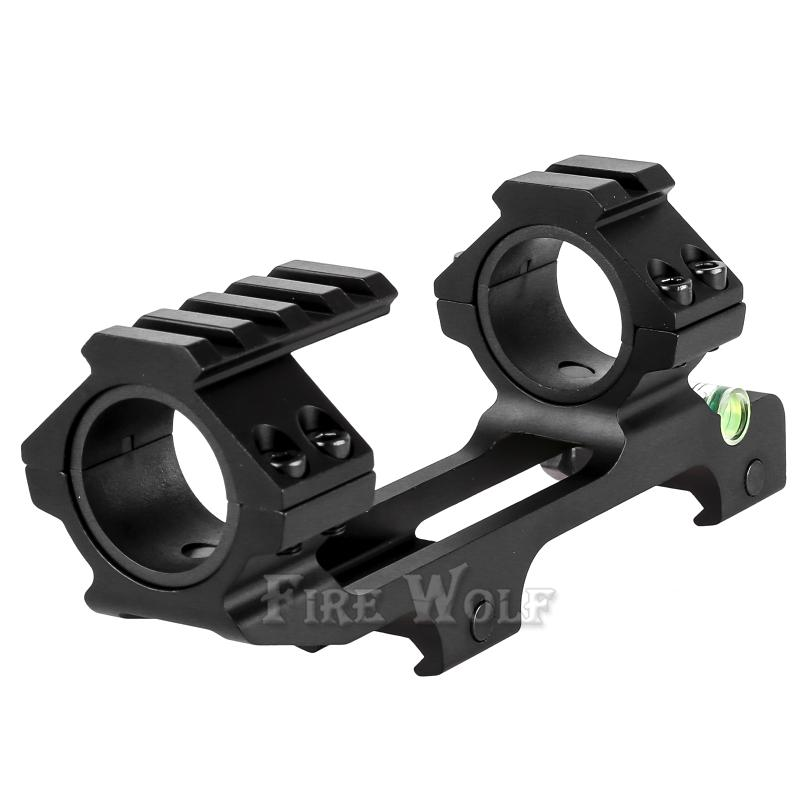 FIRE WOLF Hunting Scope Mount Dual Ring with Spirit Bubble Level Fit 20 mm Picatinny Rail for Tactical Rifle Scope 25.4/30mm