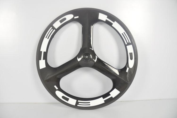 700C Tri Spokes Wheels 탄소 자전거 휠셋 Clincher 탄소 3 스포크 휠 도로 / 고정 기어 휠 HED.3 Wheelset