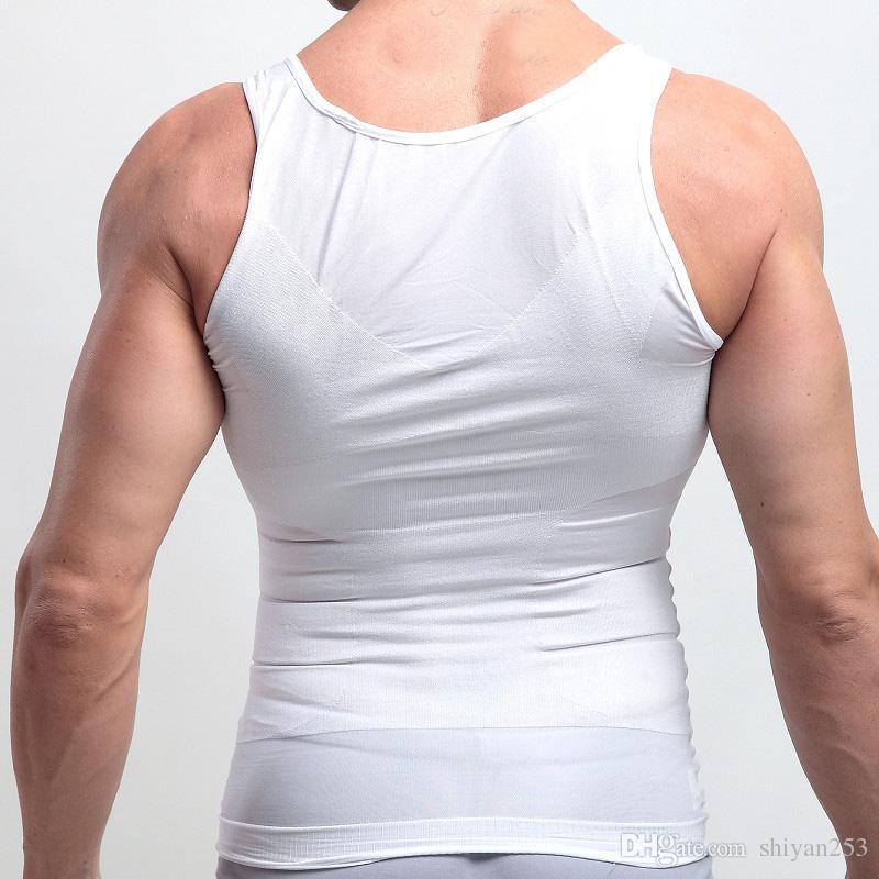 Cinto da barriga dos homens Poderoso Emagrecimento abdômen colete Body Shaper Esculpir Cinturão De Compressão Belley Buster Shapewear Underwear colete