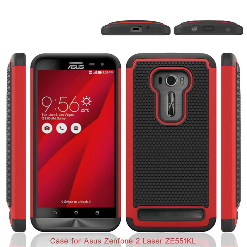 Shockproof 2 In 1 Rugged Mesh Rubber Case Football Skin Silicone Cover For Asus Zenfone Laser Ze551kl Ze551ml Customize Phone Cases Mobile