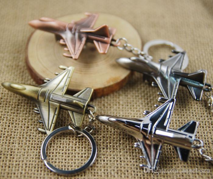 Metal Keychain Aircraft Airplane Air Plane Model Metal Keychain Key Chain Ring Keyfob Keyrings Cute Christmas Gift C22L