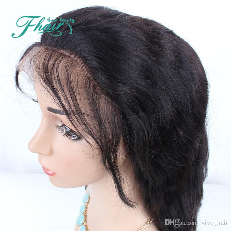 Celebrity Style Wigs Body Wave Hair Wig Natural Black 1B Color With Side Bangs Pelucas Black Women Full Wigs