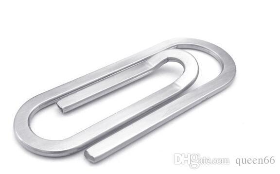 b81f22c7b3ba popular hot stainless steel men's women's paper clip shape money clip men  women gift Personalized metal wallet jewelry fashion accessories