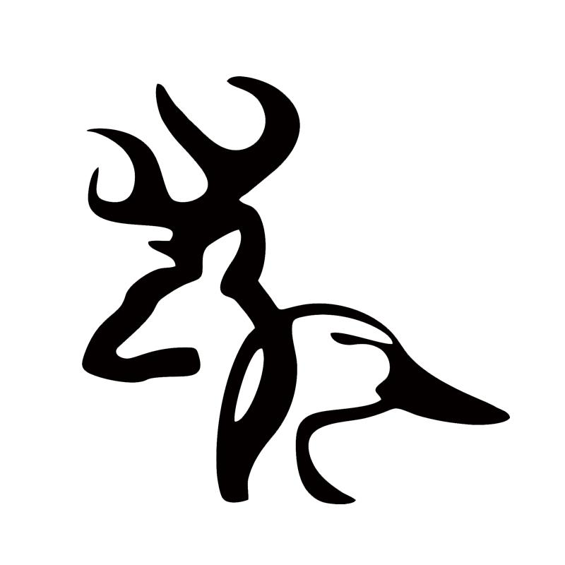 Venta caliente Duck Head Vinyl Truck Car Window Sticker Decal Deer Duck Car Accessories Jdm
