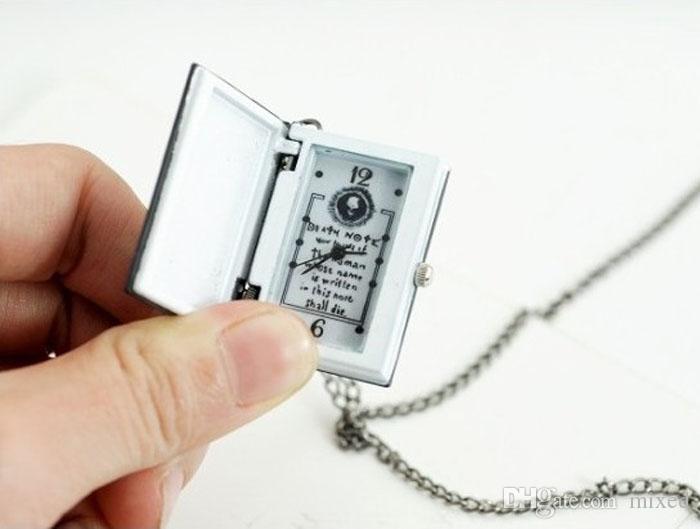 Moda 2021New Collana a catena Collana Pocket Guarda Donne Mens Unique Death Note Bronzo Quartz Fob Orologi da uomo Orologio da uomo Orologio al quarzo regalo