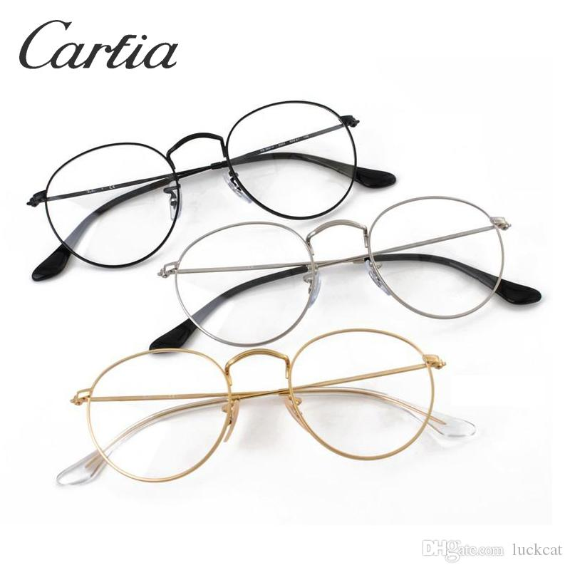 2018 3447V Round Optical Frames Metal Frame Transprent Lense Glasses ...