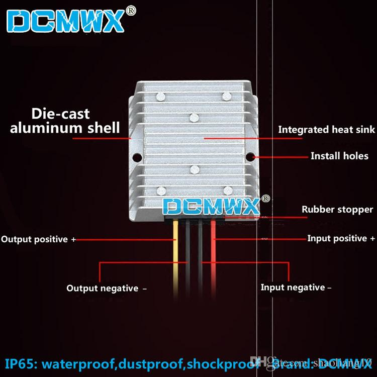 DCMWX® buck voltaj dönüştürücüler 60V48V36V24V12V 5 V düşürme aşağı araba güç invertörler Giriş DC8V-75V Çıkış 5V3A5A8A10A12A15A su geçirmez