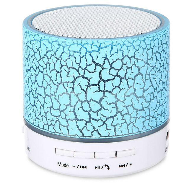 Mini haut-parleurs sans fil Bluetooth Stéréo Portable Bluetooth LED Haut-parleur musique Subwoofer avec microphone intégré Soutien TF Carte FM Radio Lecteur MP3