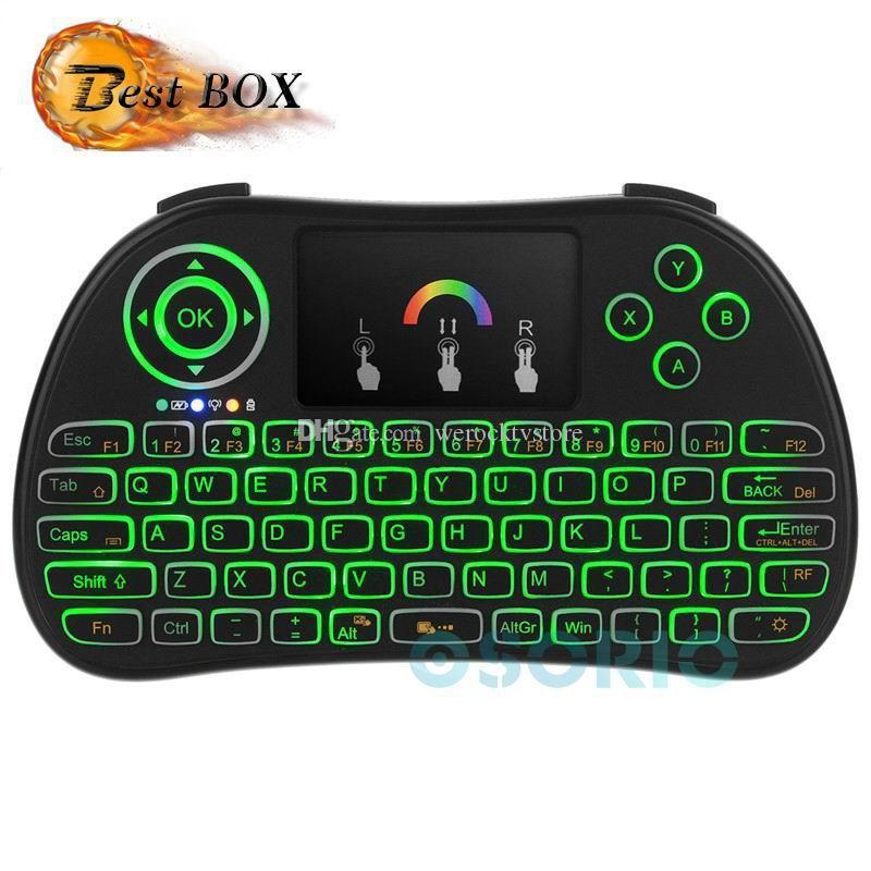 New Mini P9 Keyboard Backlight English For Android TV Box Remote Control  2 4G Wireless Keyboard With Touch Pad For Smart TV PC MXQ A95X