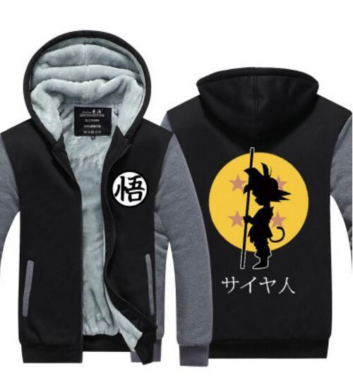 Men's Clothing Men Women Jeans Jacket Coats Anime Dragon Ball Z Son Goku Hoodies Outwear Hooded Sportswear Streetwear Cosplay Costume Clothings