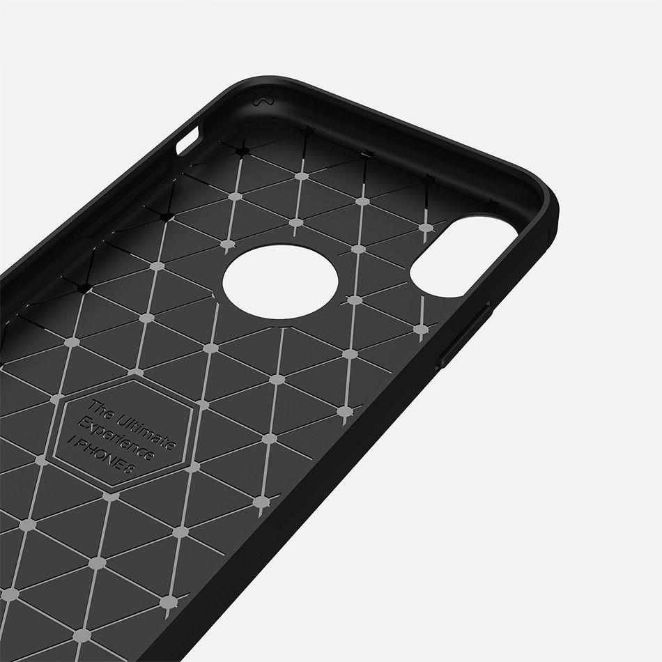Custodia iPhone 11 PRO MAX XS MAX XR Galaxy Note 10 S10 PLUS S9 S8 PLUS Spazzola Custodia protettiva in fibra di carbonio Cellulare Custodia morbida con borsa OPP