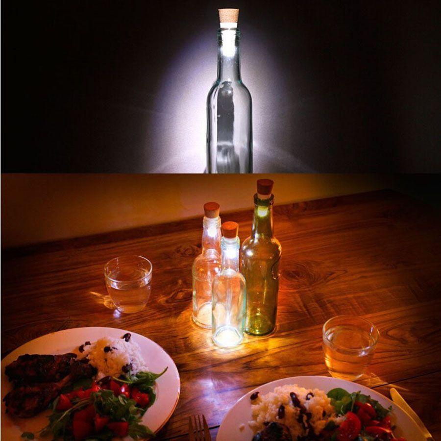 Originalidad La mejor luz Corcho En forma de USB Recargable Botella de luz LAMPARA multicolor Tapón de corcho Botella de vino USB LED Luz de noche