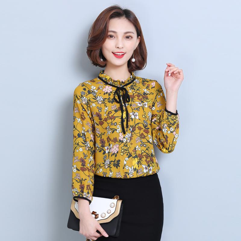 2018 New 2017 Spring Summer Women Tops Lace Floral Shirt