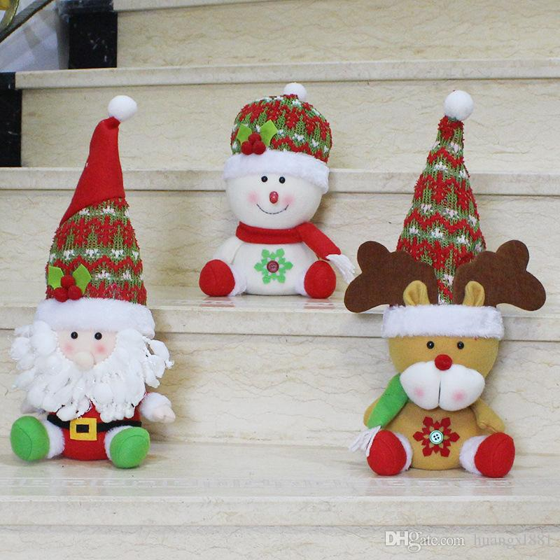 small bulk christmas ornaments santa claus snowman elk doll decoration cartoon toys christmas interior decoration christmas tr christmas decorations