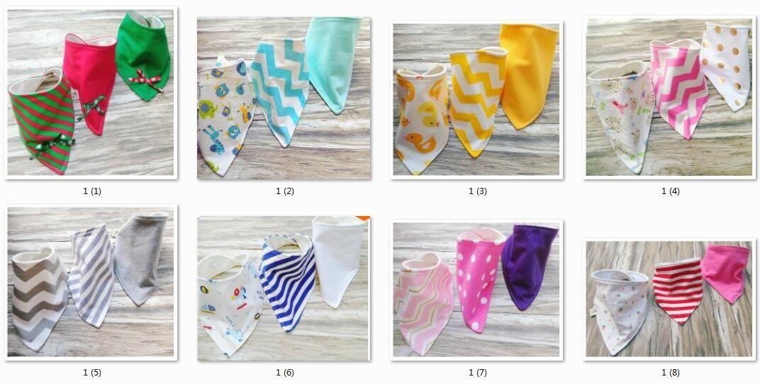 Baby cotton Bibs burp Cloths Newborn double layer girls boys Waterproof Triangle Saliva Towel animal owl watermelon style bib YE010