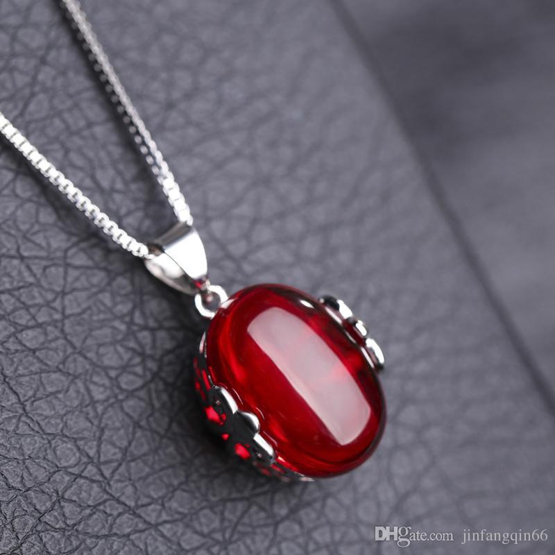 Wholesale Fashion Opening Gemstone Platinum Plated Necklaces Elegant