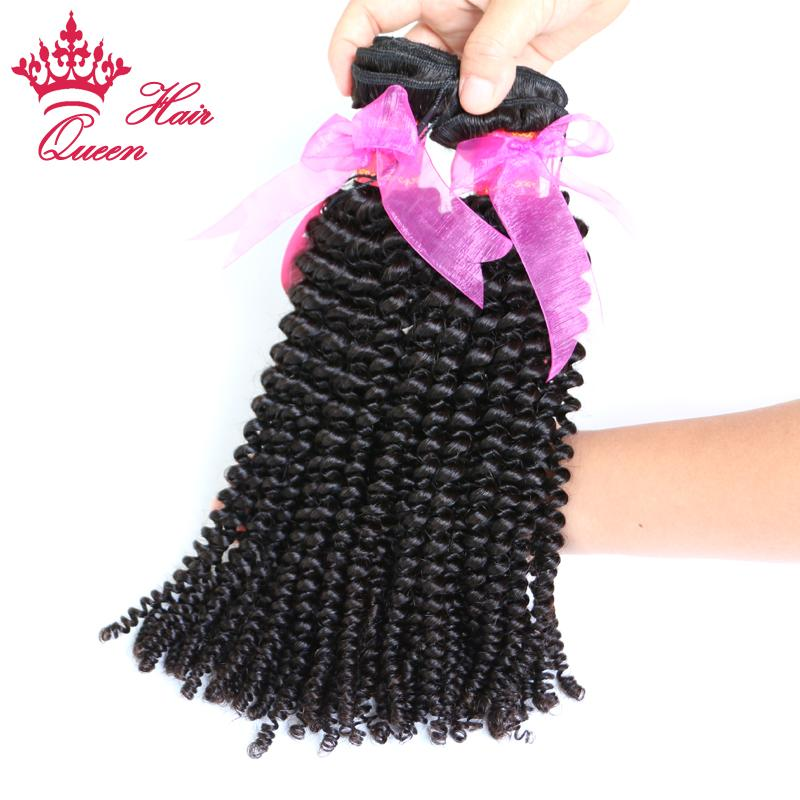 Queen Hair Products 100% Virgin Human Hair Best Quality 8-30 virgin Brazilian kinky curly hair weave In stock factory price