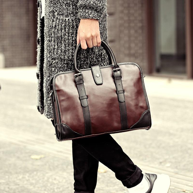 2017 Special Offer Time-limited Genuine Leather Men Handbag Classic High Quality Bag Laptop Briefcase Messenger Solid Business