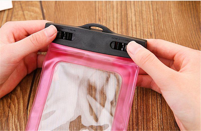 Для iphone 7 сухой мешок водонепроницаемый чехол универсальный прозрачный водонепроницаемый мешок подводный чехол подходит для всех смартфонов 200 шт.