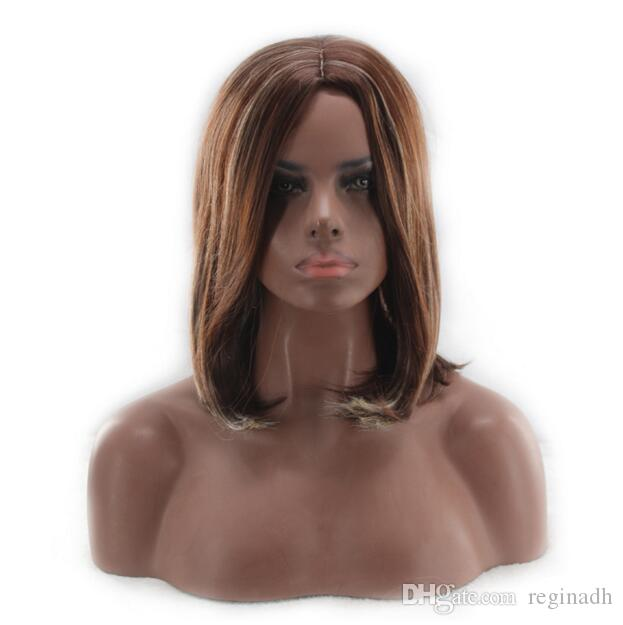 Women's Wig Lady Sexy Brown in the short hair cosplay Wigs Straight BOBO Hair Wigs Cosplay Party Synthetic Wigs