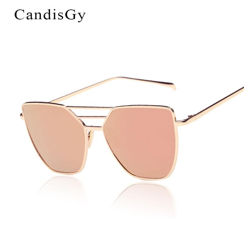 Compre Flat Top Rose Gold Homens Mulheres Espelho Óculos De Sol Da Marca De Moda  Designer De Óculos De Sol Legal Atacado Feminino 2017 Nova YB59 De ... e03b011fb3