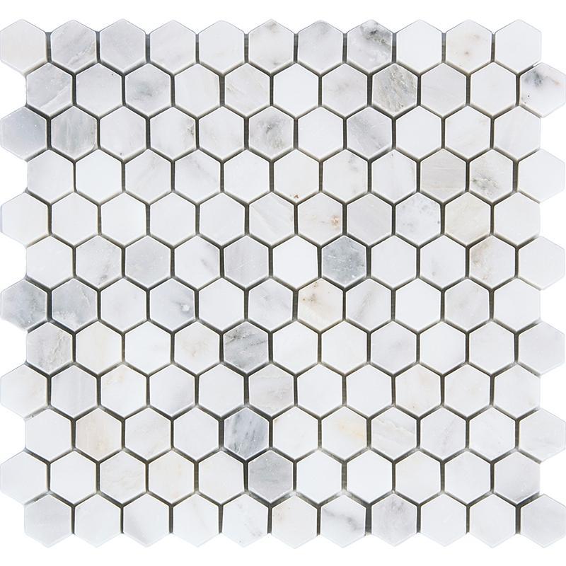 Großhandel Baustoffe Hexagon Marmor Stein Mosaikfliesen, Naturstein Fliesen  Küche Backsplash, Wand / Bodenfliesen, Zwei Größen Optional, Lsmbh05 / 08  Von ...