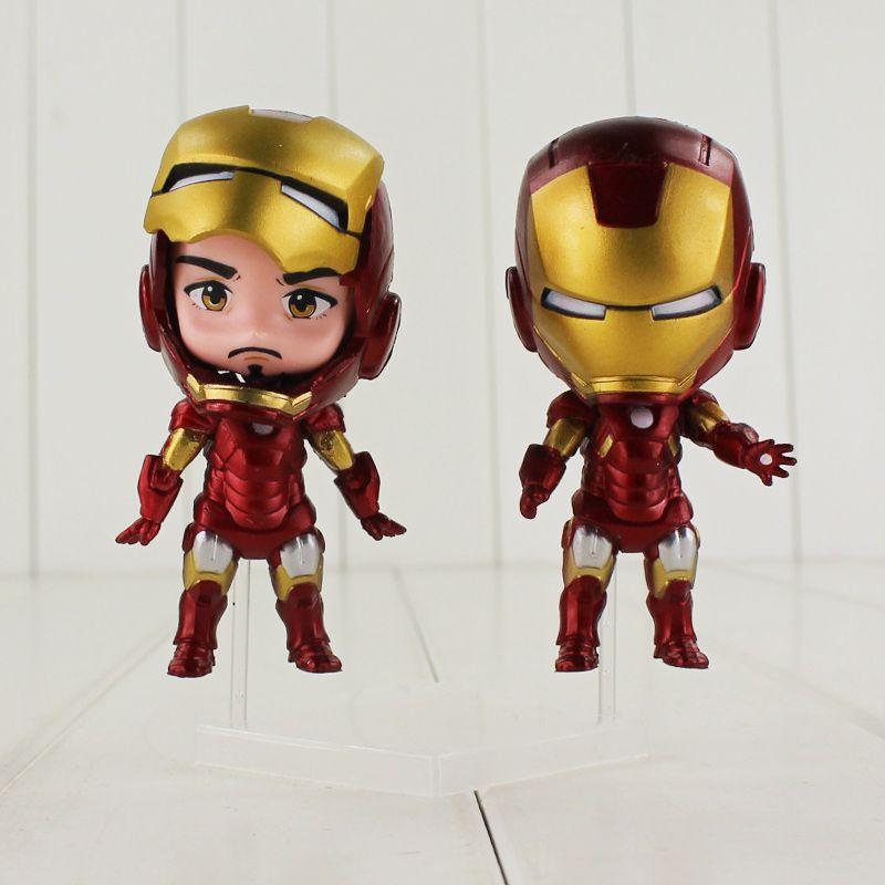 12-15cm The Avengers Q Iron Man PVC Action Figure Toys for kids gift EMS