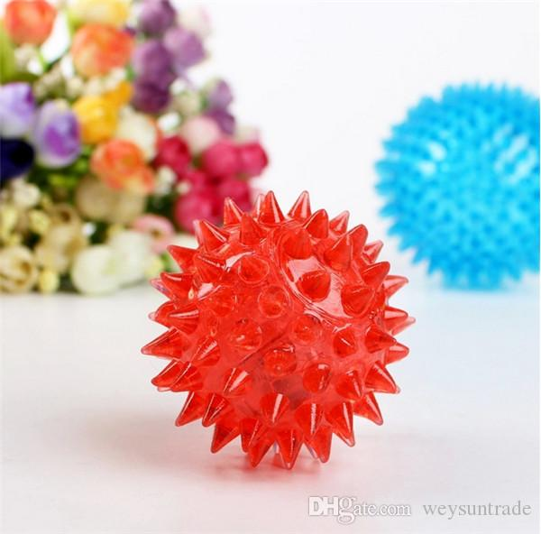 Dog Puppy Cat Pet Hedgehog Ball Rubber Bell Sound Ball Fun Playing Toy Hot Worldwide Brand New