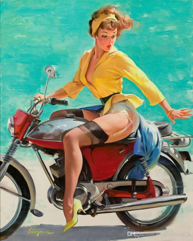 2019 Vintage Pinup Girl Gil Elvgren Hand Painted Art Oil