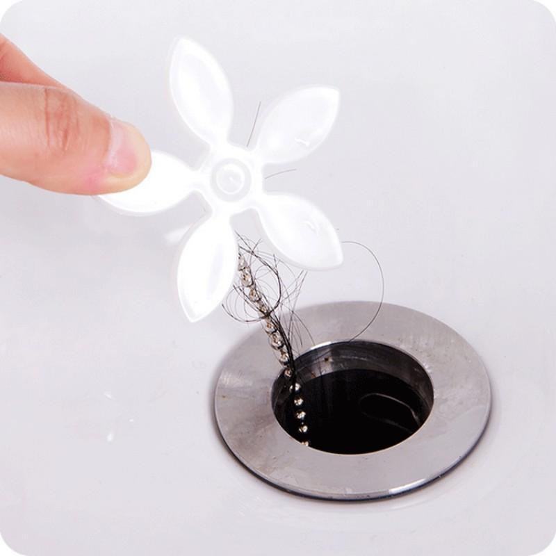 Drain Pipe Hair Catcher Stopper Clog Kitchen Bathroom Sink Bathtub Sewer Filter Anti-blocking Tool Hair Remover.