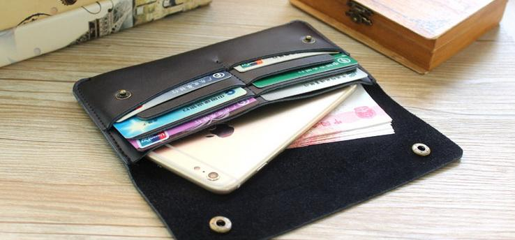 새로운 인기있는 클러치 지갑 no40 고대의 얇은 휴대 전화 걸쇠 카드 가방을 복원 긴 스타일의 정품 소 가죽 디자이너 지갑을 womenmens