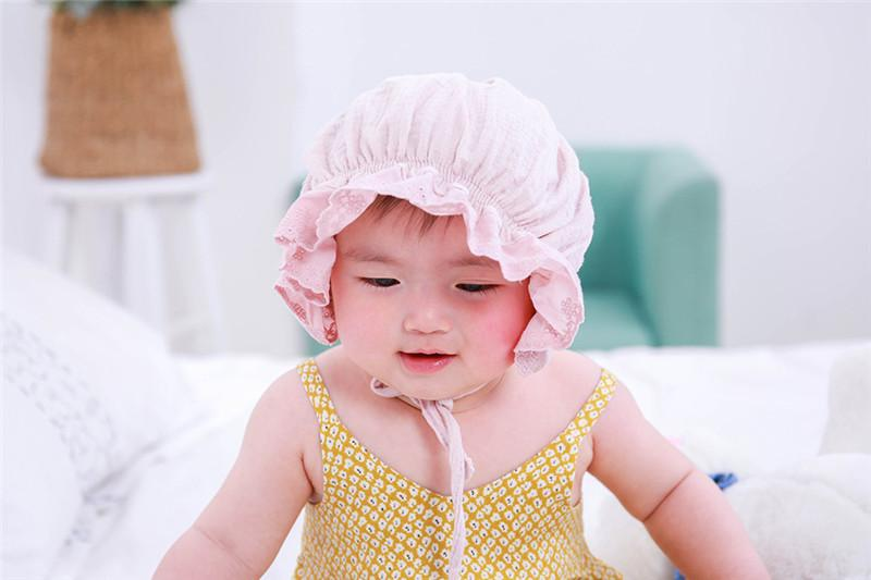 2018 INS Newborn Baby Summer Hats Infant Beanies Summer Flimsy Baby Hats Sun-proof Kids lace hats