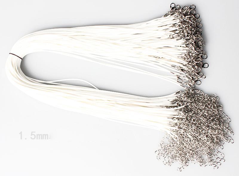 Colar de couro de cera colar de beading corda corda corda fio extender corrente com fecho de lagosta diy jóias baratas