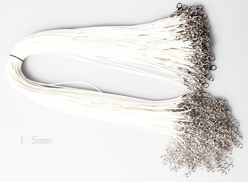 Collar de serpiente de cuero de cera rebordear cuerda de cuerda Cadena de extensor de alambre con cierre de langosta DIY joyería barata