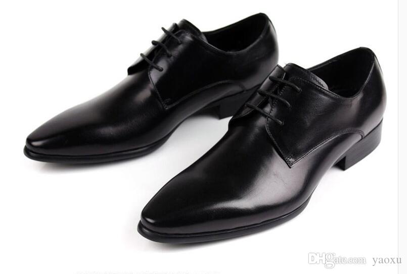 Fashion Italian Designer Formal Mens Dress Shoes Genuine Leather ...