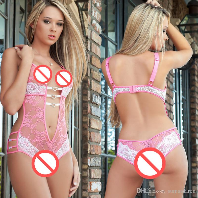 ee97bd24ed Plus Size Sexy Lingerie Women Lace Costumes Underwear Three Point  Perspective Pajamas Sleepwear Erotic Nightgown Home Bodysuit Sexy Corset Set  Sexy Garter ...