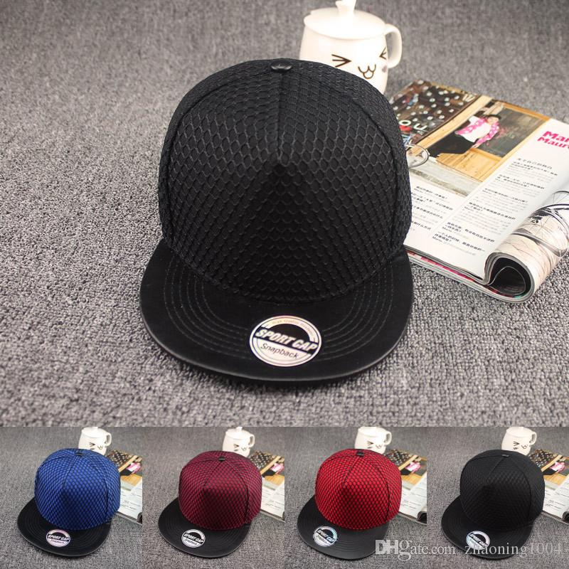 017f6a284654b Quality Designer Plain Hip Hop Baseball Hats Adjustable Snapbacks Blank  Basketball Sports Mesh Cap For Adults Mens Womens Summer Sun Visor Newsboy  Cap ...